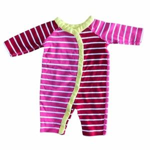 Hanna Andersson baby multicolored wrap romper